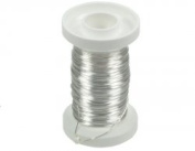 Glorex Silver Wire 26 Gauge 40 m Silver Plated Copper Core, Wire, Silver, 3 x 3 x 5 cm