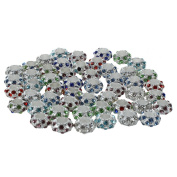 TOOGOO(R) 50 Pcs 11x 6mm Strass Metal Beads Spacer Charms New