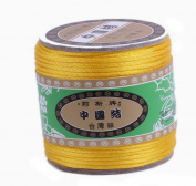 Bigood Nylon Thread Chinese Knot Macrame Braided String 1.8mm 40m Orange