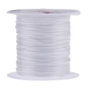 Bigood 5 rols Elastic Crystal String 0.8mm*10m Thread Cord Rope Jewellery Making White