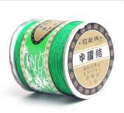 Bigood 135m 0.8mm Chinese Knot Shamballa Nylon Necklace Braided Cord Beading String Green