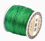 Bigood 70m 1.5mm Nylon Beading String Knotting Trim Cord Chinese Knot Shamballa Green