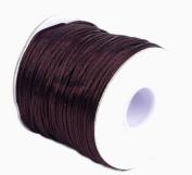 Bigood 70m 1.5mm Nylon Beading String Knotting Trim Cord Chinese Knot Shamballa Brown