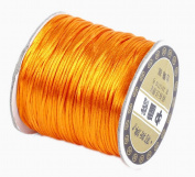 Bigood 70m 1.5mm Nylon Beading String Knotting Trim Cord Chinese Knot Shamballa Gold