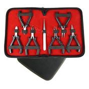 PTL® Prestige Mini Pliers Set Beading tools Kit Jewellery making tools with Nylon Jaw pliers #1808