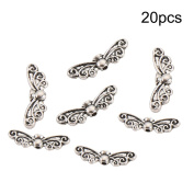 Tibetan Silver Beads, niceEshop(TM)20pcs Silver Tone DIY Jewellery Making Findings Lucky Charms for Birthday & Festival Gift