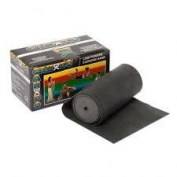 CanDo Low Powder Exercise Band, Black,15cm x 7.6cm x 7.6cm , X-Heavy, 6 yd. Roll-1 Each
