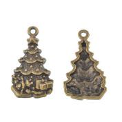 RainBabe Antique DIY Tree Christmas Necklace Bracelet Charm Pendant Jewellery Accessory 20Pcs