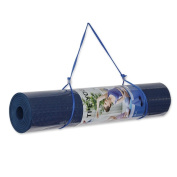Yoga Mat TPE Eco-friendly Reversible None slip 0.6cm Thick 60cm Wide 180cm Long For Pilates Exercise With Carry Strap