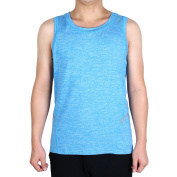 Men Sleeveless T-shirt Vest Training Exercise Sports Tank Top Blue M