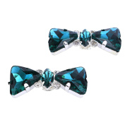 Santfe Rhinestone Crystal Bowknot Shoe Clips Buckle Wedding Shoe Accessories Shoe Decoration Charms