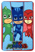 Pj Masks HQ4415 Fleece Blanket, Children's Bedding, 150cm , Multicoloured, Catboy, Owlette and Gekko