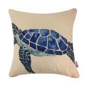 Monkeysell Mediterranean styleThe turtle design pillowcases Home decoration Cotton linen square decoration fashion the pillowcase - 5.5mX5.5m