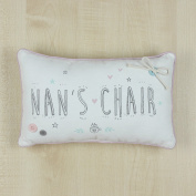 Nan's Chair Sentiment Vintage Style Cushion With Buttons Gift
