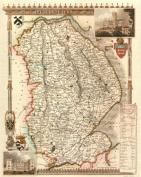 Lincolnshire Reproduction Antique Map, Retro Reproduction Lincolnshire Map, Thomas Moule Maps