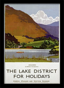"""National Railway Museum """"The Lake District (2)"""" Framed Print, Multi-Colour, 30 x 40 cm"""