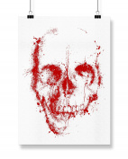 Hippowarehouse Blood Skull Splatter printed poster wall art wall design A3