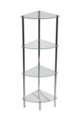 ASPECT Polo 4-Tier Display Glass Unit/Bathroom Rack, 30 x 40 x 104 cm, Clear