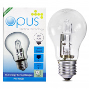 5 x Opus 28w = 40w GLS ES E27 Screw Cap Long Life Clear Eco Halogen Light Bulbs Dimmable Energy Saving Lamps Pack