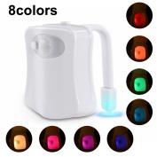 Toilet Lights, Boomile LED Waterproof Toilet Night Light Sensor Motion Toilet Bowl Light Battery-Operated Brightness Adjustable for Washroom and Bathroom