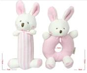 Liketo 2pcs Baby Soft Rattle Plush Sensory Activity Toy Blue Bear Boy Toys 5.6in4in -Stuffed Animal for Newborn Infant Twin -Newborn Gift Crib Toy