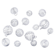 30PCS Silver Plated Hollow Ball Wire Beads Charms 15mm/20mm/25mm Jewellery Making Findings DIY Crafts
