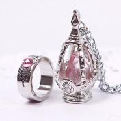 ZHUOTOP Puella Magi Madoka Magica Soul Gem Necklace + Ring Cosplay Set