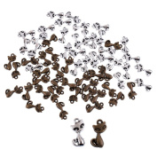 MagiDeal 30pcs Fashion Jewellery Making Charms Lovely Cat Supplies Pendant Craft DIY Vintage Alloys Necklace Crafts Supply Findings Loose