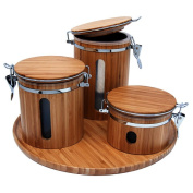 Le Chef 4 Piece Kitchen Canister Set