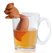 Danapp Squirrel tea squirrel silicone tea soda tea sachet environmental protection tea bag filter