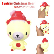 Winkey Funny Toy 13cm Squishy Poo Christmas Bear Relieve Anxiet Squeeze Slow Rising Fun Toy Gift