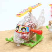 Baby Funny Plane Toys Colorful Somersault Running Clockwork Transparent Aircraft Wind Up Toy