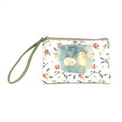 good01 Women Mini Purse Cute Elephant Elk Whale Cat Printed Handbag Coin Phone Bag