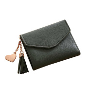 Bodhi2000® Women's Wallet PU Leather Card Holder Girls Small Cute Coin Purse with Tassel