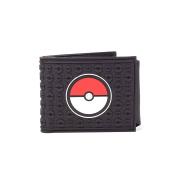 Pokemon Wallet Pokeball black Official Nintendo Bifold Rubber One Size