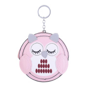 Kanggest Fashion Zipped Purse with Keyring Loop Creative PU Leather Own Pattern Charm Mini Coin Wallet Bag for Women Little Girl Kids Gift