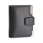 Sundatebe Men's Casual Wallet Faux Leather Triple ID Credit Card Holder Pocket Purse