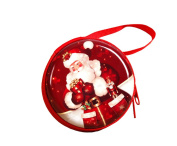 ACVIP Xmas Style Round Zipper Purse Coin Key Pouch