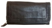 Black very soft genuine leather wallet