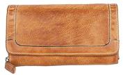 Dark yellow very soft genuine leather wallet