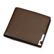 Gtuko Men'S Wallet Short Paragraph Student Wallet Pu Leather 11.5X9.5X1Cm , Brown