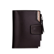 Tianfuheng Men's Triple Clutch Faux Leather Wallet Pocket Coin Purse ID Credit Card Holder