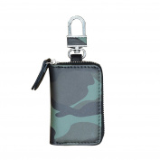 Beatsport Genuine Leather Car Key Bag Camouflage Waist Hanging Buckle Zipper Key Bags