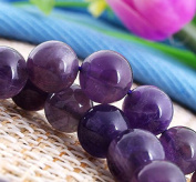 Ecloud Shop® Artificial Purple Crystal 8mm Round Beads Strand Fine Carved Beads