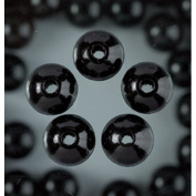 Holzperlen 4mm mit Bohrung Schwarz