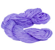 Bigood 27m 1mm Chinese Knot Shamballa Nylon Necklace Braided Cord Beading String Purple