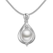 Rhinestone Imitation Pearl Pendant Necklace