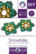 "Exclusive beading Kit for DIY Jewellery Making ""Snowflake""."