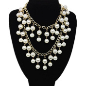 Kelaina Fashion Multiple Layers Tassel Artificial Pearl Necklace for Women