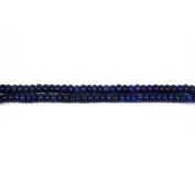 Strand of 85+ Blue Lapis Lazuli 4 x 6mm Plain Rondelle Beads - (CB46399) - Charming Beads
